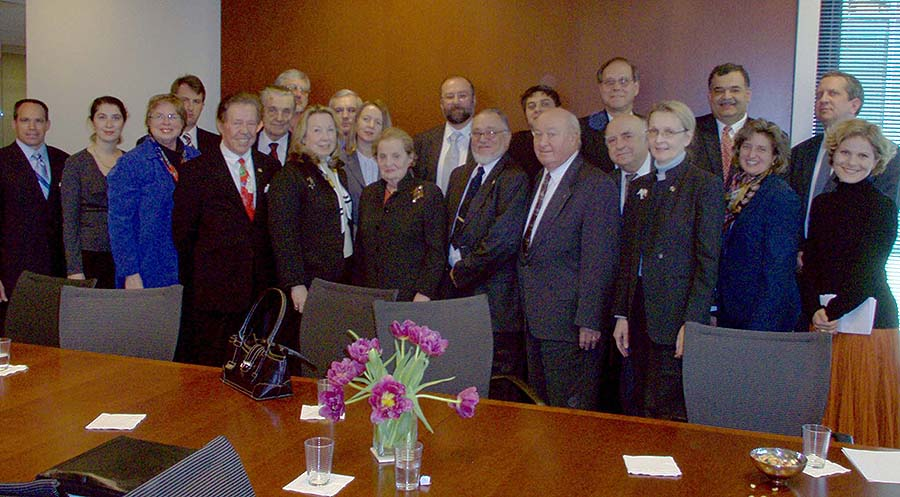 Policy Discussions with Former Secretary of State Madeline Albright
