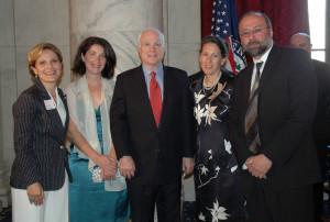 McCain with the GA